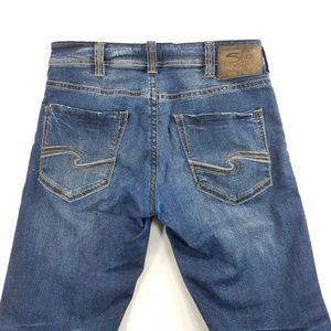 Silver Jeans Zac Straight Leg Denim Stretch Pants